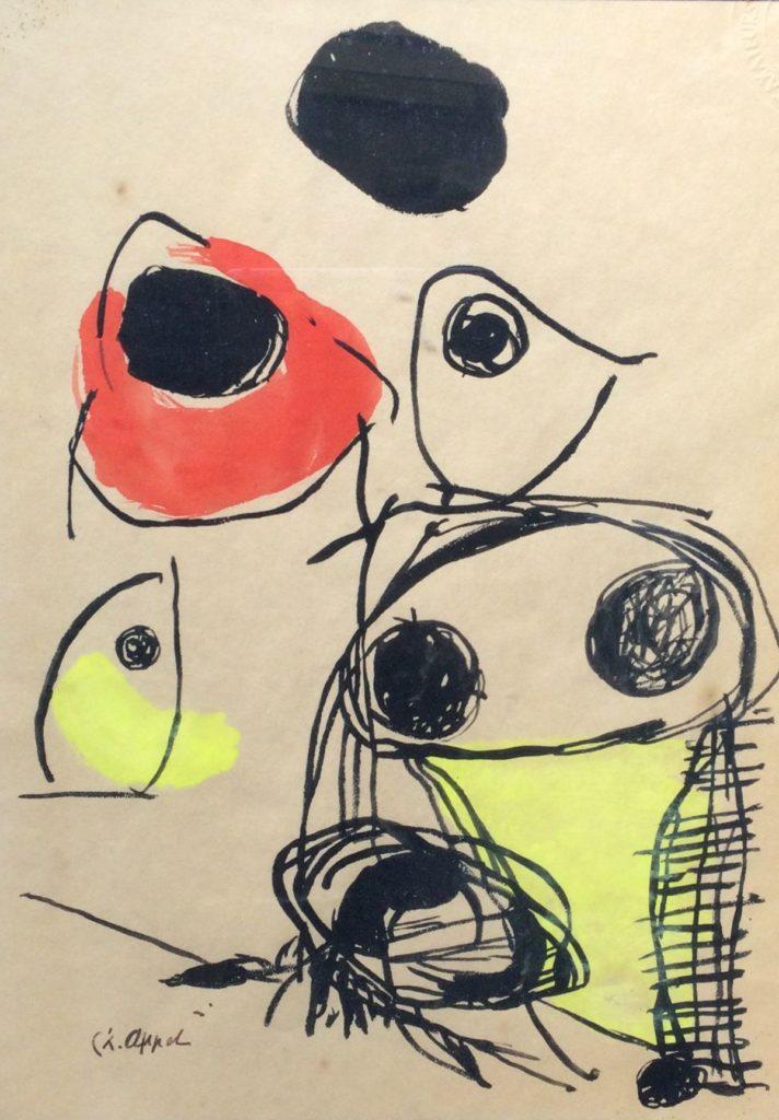 Kunst te koop bij Galerie Wijdemeren van kunstschilder Karel Appel