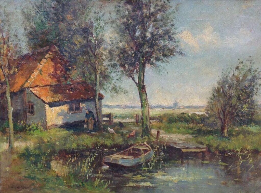 Kunstenaar A. van der Heijden nr. C212, A. van der Heijden l.o. gesigneerd verkocht