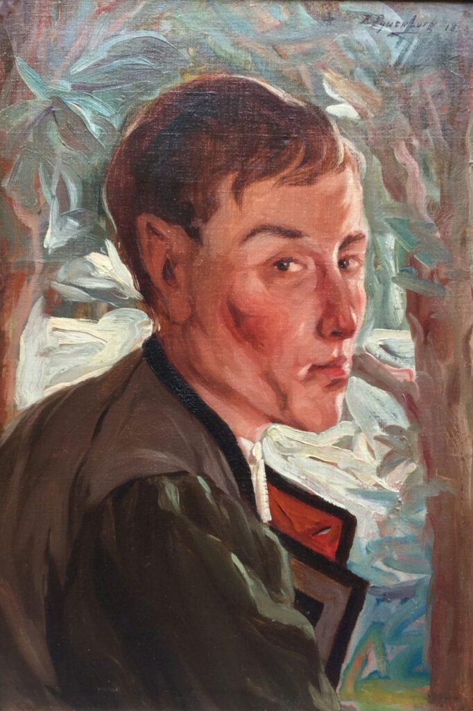 Kunstenaar Reinier Pijnenburg C2180 Reinier Pijnenburg Spaanse militair, mogelijk zelfportret olie op doek, 65 x 45 cm rechtsboven gesigneerd, gedateerd 1918