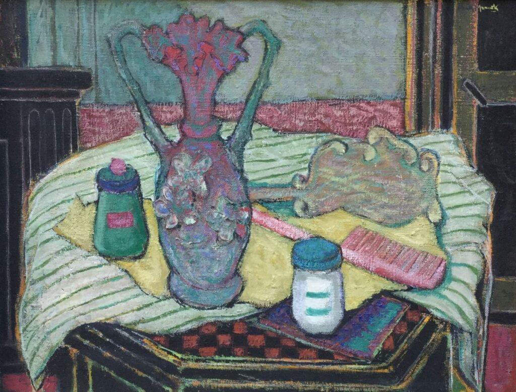 Schilderijen te koop, kunstschilder Henk Munnik Stilleven Olie op doek, doekmaat: 35,5 x 45 cm Rechtsboven gesigneerd, expositie Galerie Wijdemeren Breukeleveen