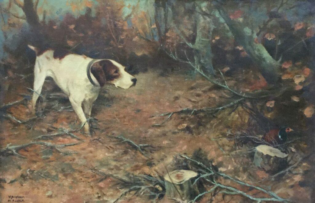 Kunstenaar Willem Raaphorst C2240, Willem Raaphorst, jachttafereel naar P vd Hem, particuliere collectie
