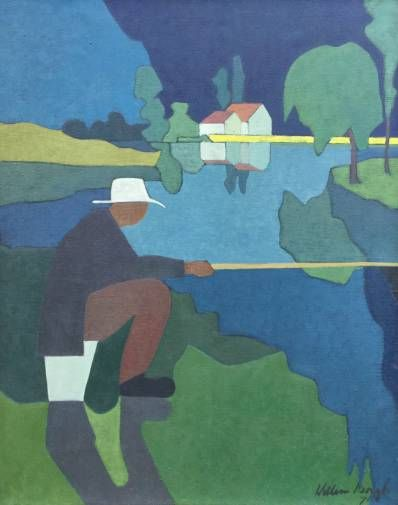 Kunstenaar  Willem Borgh,  Olie op doek, 100 x 80 cm, r.o. gesigneerd