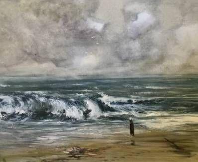 Kunstenaar Will Berg C2429, Will Berg Zeegezicht Olie op doek, 100 x 81 cm l.o. gesigneerd