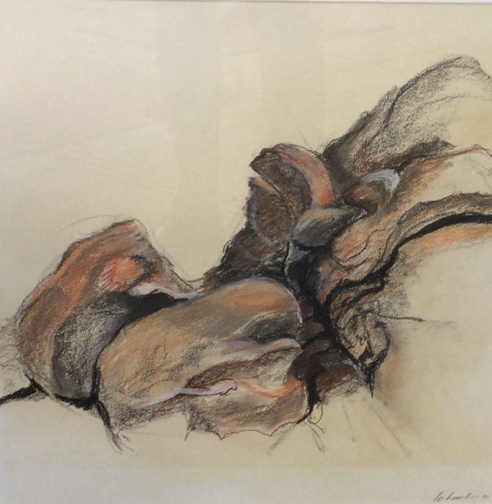 Schilderijen te koop van kunstschilder Willem Hesselink, C2470-2 rotspartij Normandie, Expositie Galerie Wijdemeren Breukeleveen