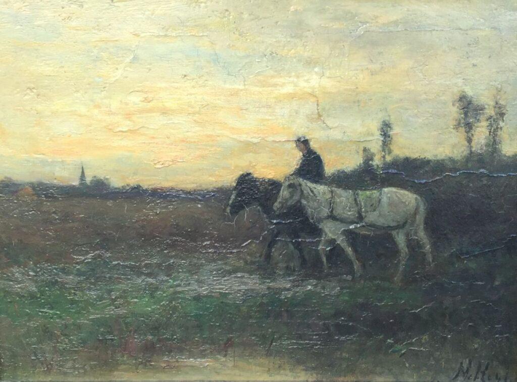 Schilderijen te koop van kunstschilder Marinus Heijl, C2474 Marouflé, expositie Galerie Wijdemeren Breukeleveen