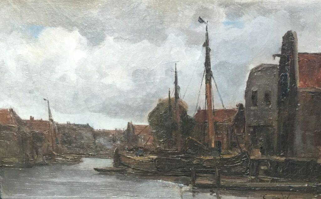 Schilderijen te koop, kunstschilder C. van Waning, C2483 olie op doek, 23,5 x 35 cm, expositie Galerie Wijdemeren Breukeleveen
