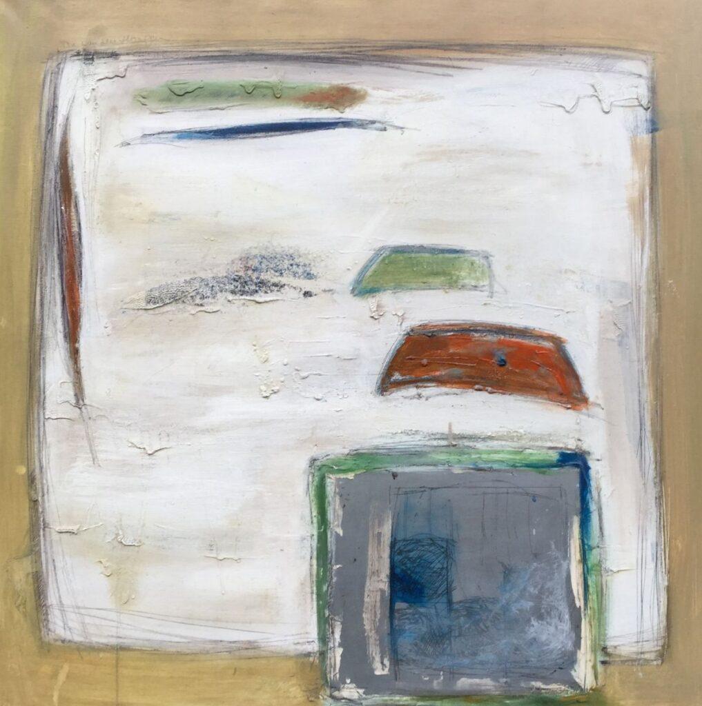 Schilderijen te koop van kunstschilder Ton van den Hoogen C2479, Landschappelijk olie op doek, 120 x 120, rechtsboven gesigneerd, expostie Galerie Wijdemeren Breukeleveen