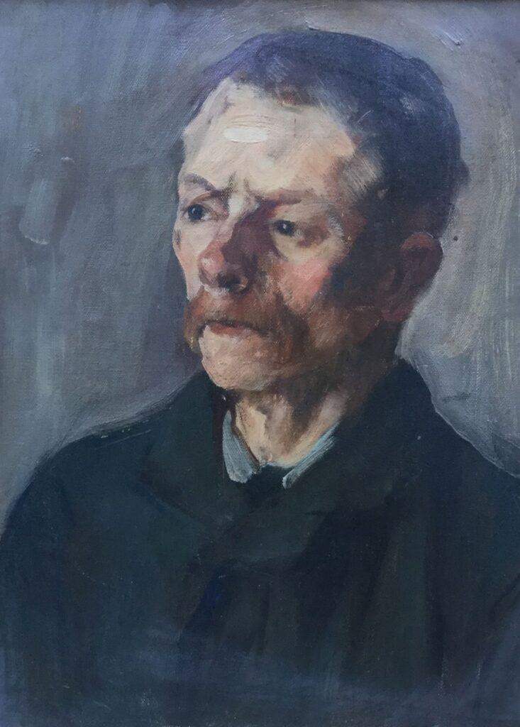 Kunstenaar Chris Huidekoper C2504, Chris Huidekoper portret studie olie op doek, 41 x 31 cm verkocht