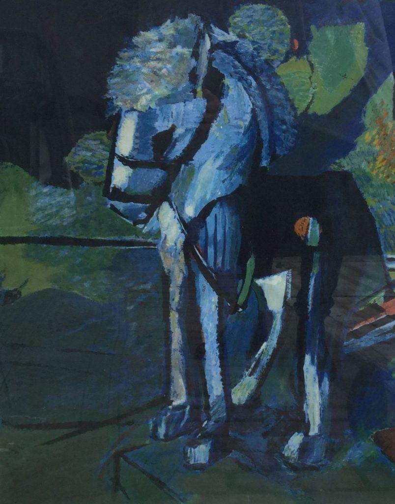 Kunst te koop bij Galerie Wijdemeren van kunstschilder Kees Verwey Paardje kleurenlitho, 54 x 43 cm gesigneerd rechtsonder, oplage 68/200