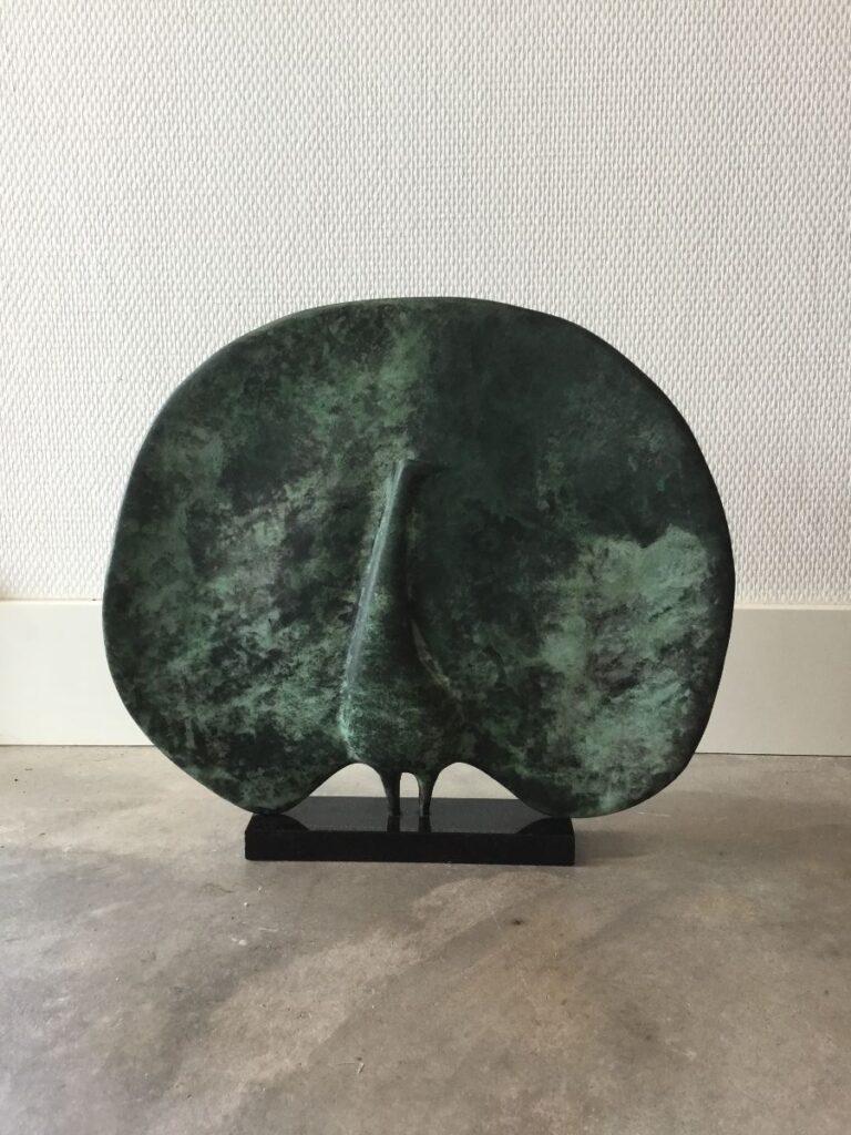 Kunstenaar  C2784, Alexander Mirochnichenko, pauw, brons, 34cm