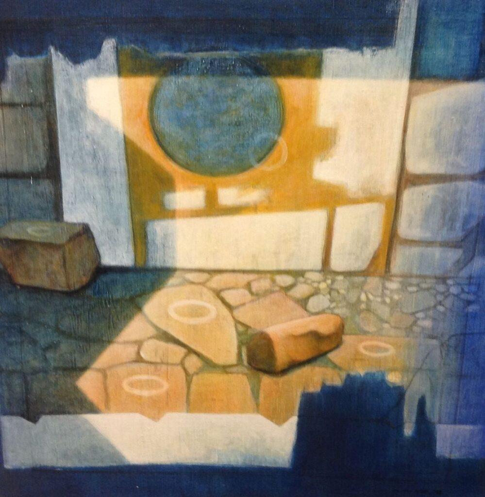 Kunstenaar Marcel van Hoef C279, Marcel van Hoef Passage Olie op doek r.o. gesigneerd en gedateerd op verso 1999 verkocht