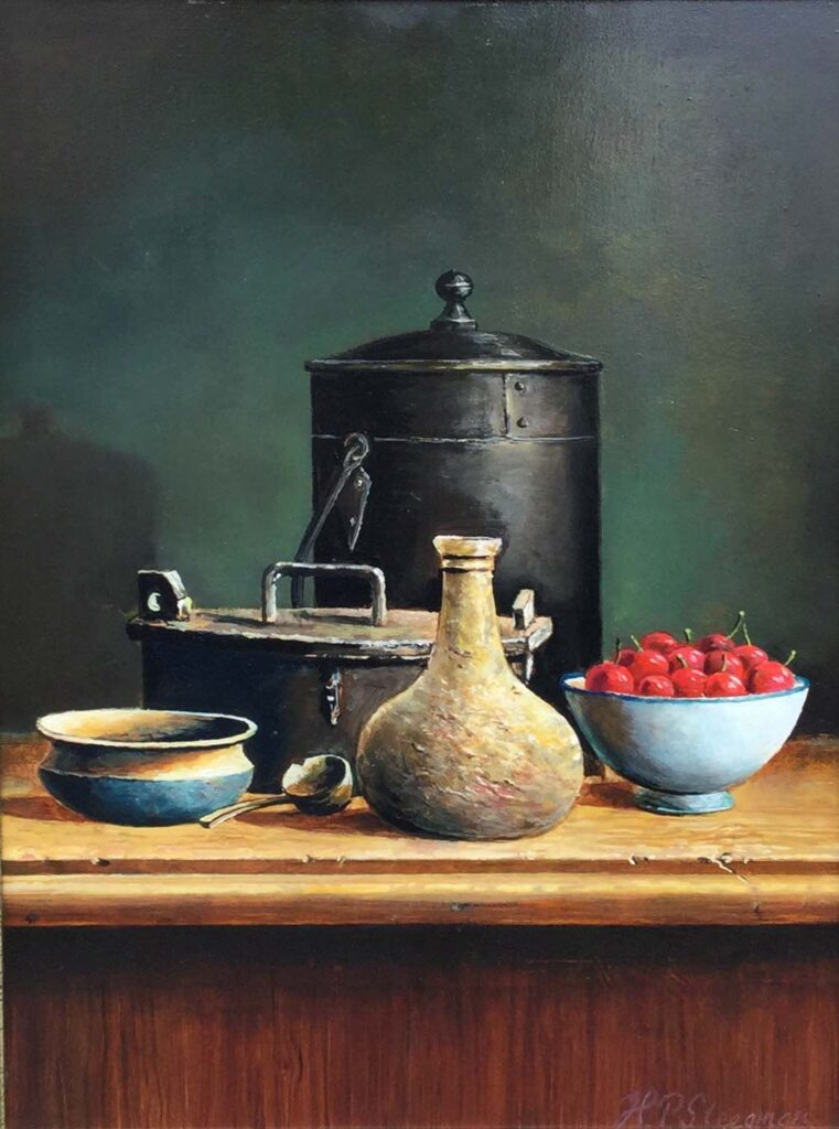 Kunstenaar H.P. Steegman C2881 H.P. Steegman keukenstilleven olie op paneel, 40x30 cm r.o. gesigneerd verkocht