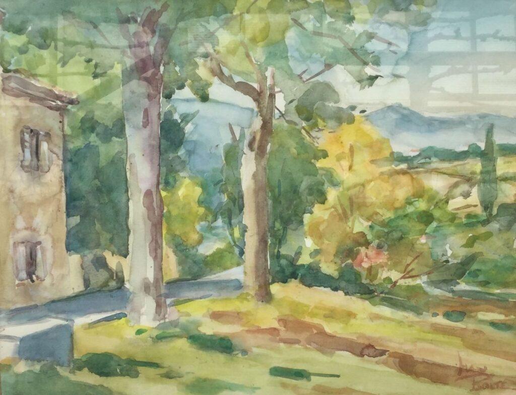 Kunstenaar Han Bolte C3004-3, Han Bolte Landschap