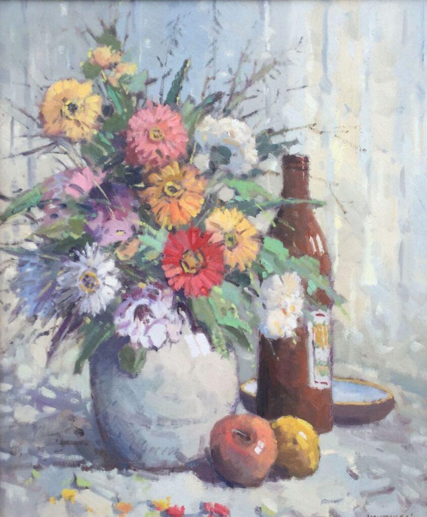 Kunstenaar Willem Heytman C3111, W. Heytman Bloemstilleven Olie op doek, 60,5 x 50 cm r.o. gesigneerd particuliere collectie