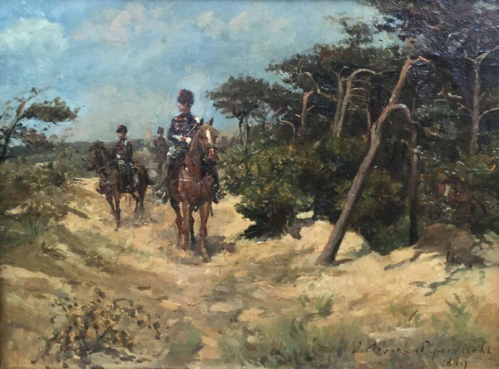 Schilderijen te koop van kunstschilderJan Hoynck van Papendrecht In de duinen Olie op doek, doekmaat : 31 x 40 cm Rechtsonder gesigneerd, gedateerd 1889, Expositie Galerie Wijdemeren Breukeleveen