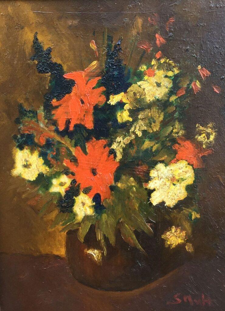 Kunstenaar Sientje Mesdag van Houten C3205, Sientje Mesdag van Houten  Bloemstilleven  olie op doek, 41 x 31 cm  r.o. gesigneerd