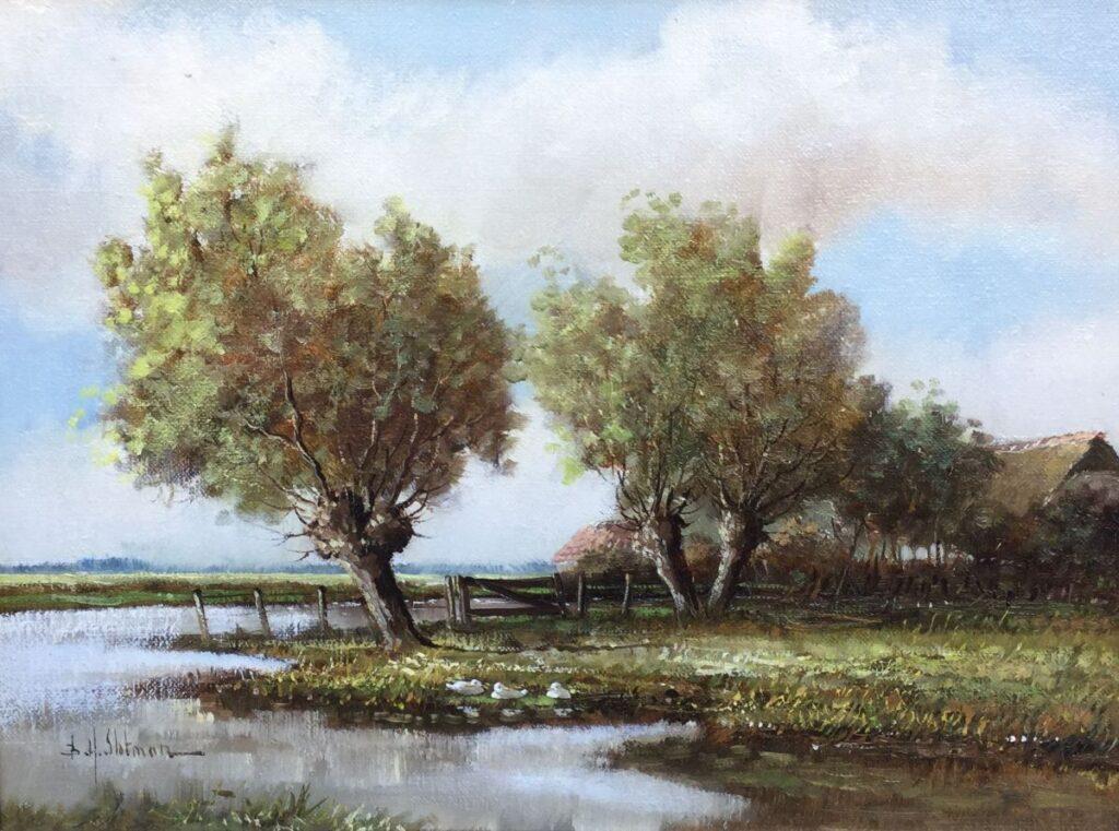 Kunstenaar B.H. Slotman