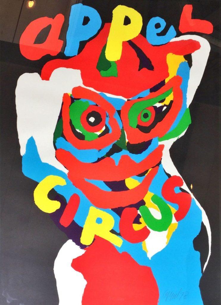 Kunstenaar Karel Appel C3371-6 Karel Appel Circus, litho verkocht