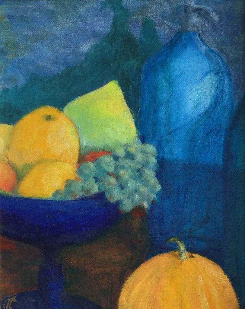 Schilderijen te koop van kunstschilder Mercedes Choufoer Maroufle, 30 x 24 cm Monogram linksonder gedateerd 1995, Expositie Galerie Wijdemeren Breukeleveen