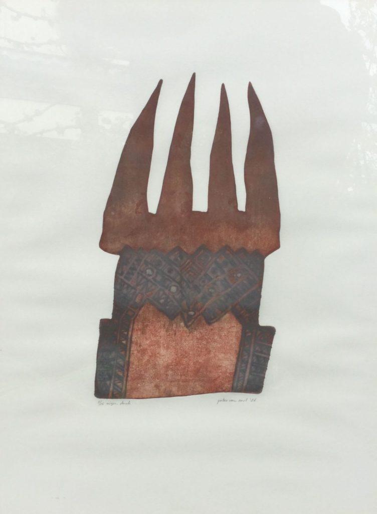Kunst te koop bij Galerie Wijdemeren van graficus Peter van Oort serie 2 nr. 21 ets en aquatint, beeldmaat 64 x 49 oplage 5/15, eigen druk, r.o. gesigneerd en gedateerd '86