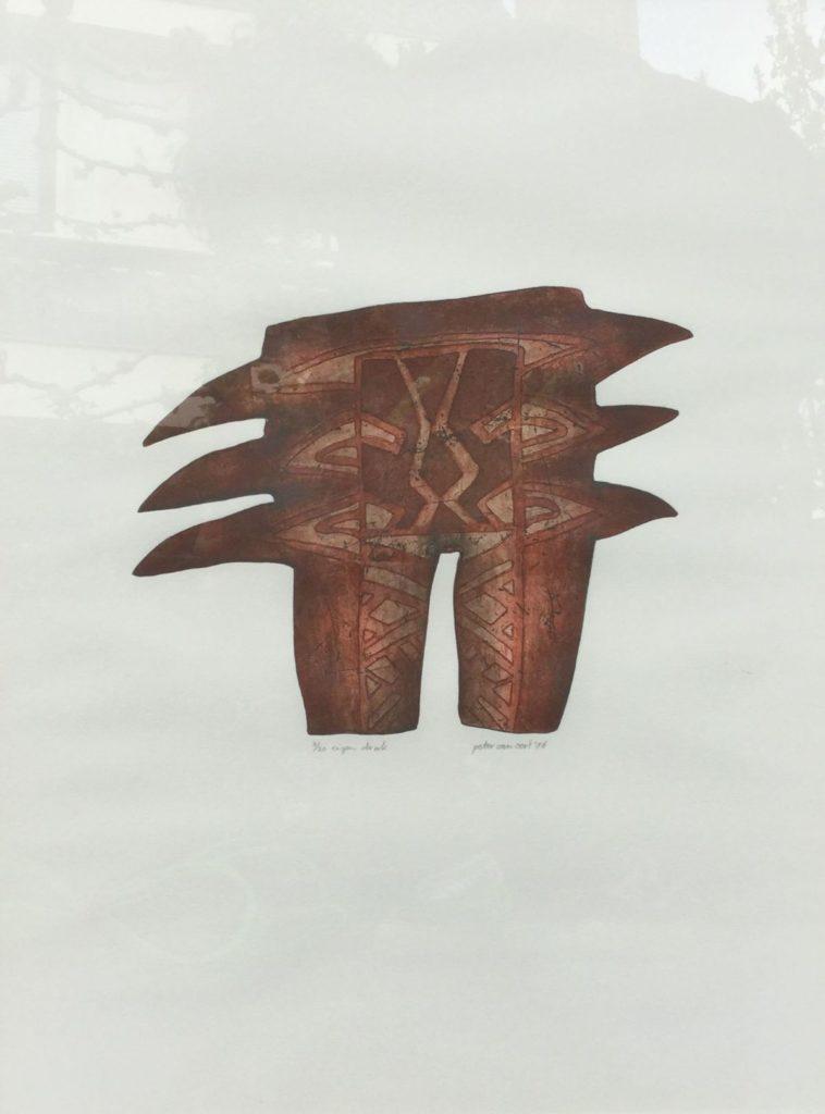 Kunst te koop bij Galerie Wijdemeren van graficus Peter van Oort serie 2 nr. 16 ets en aquatint, beeldmaat 63 x 48 oplage 3/20, eigen druk, r.o. gesigneerd en gedateerd '86