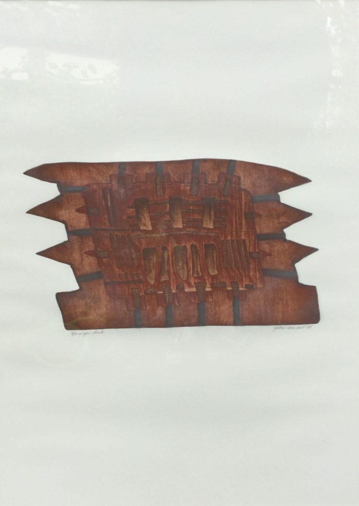 Kunst te koop bij Galerie Wijdemeren van graficus Peter van Oort serie 2 nr. 22 ets en aquatint, beeldmaat 63 x 48 oplage 7/15, eigen druk, r.o. gesigneerd en gedateerd '86