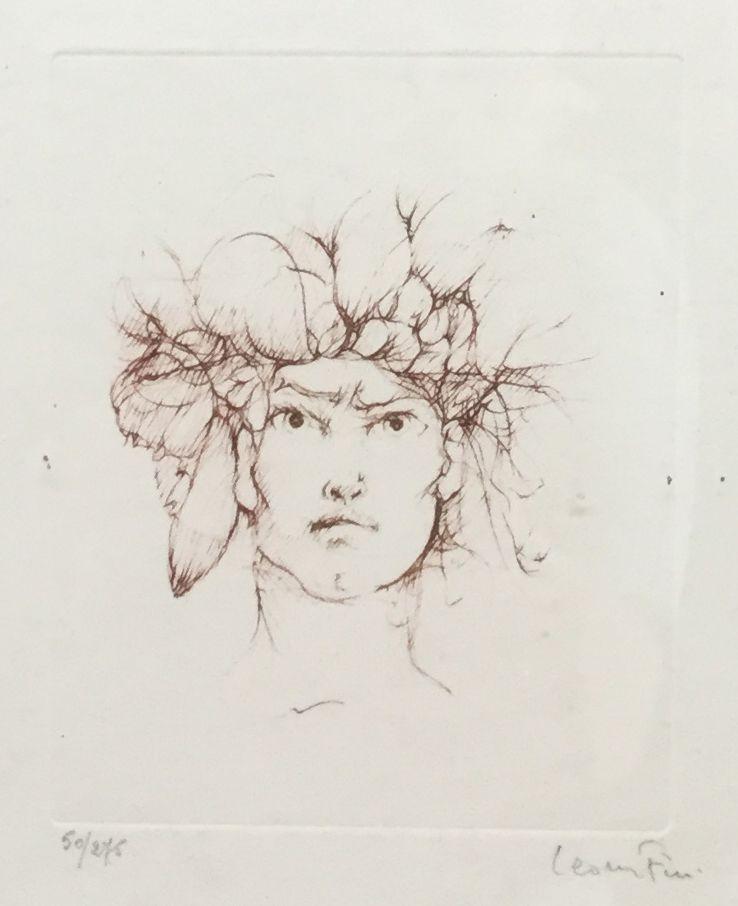 Kunstenaar Leonor Fini C3461-2 Leonor Fini ets, beeldmaat 13 x 16 cm oplage 50/275, rechtsonder gesigneerd