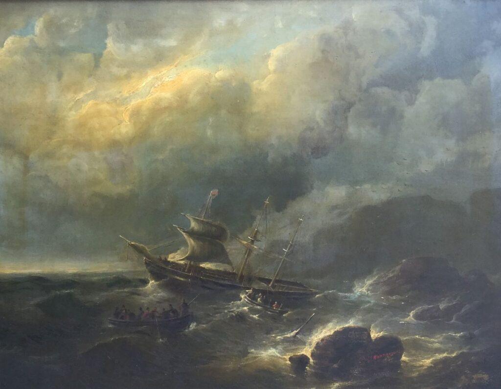 Kunstenaar Christiaan Cornelis Kannemans C3480W C.C. Kannemans Storm op zee olie op paneel, 55 x 70 cm rechtsonder gesigneerd gereserveerd