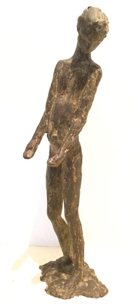 Kunstenaar Tineke Bot C3485 Tineke Bot Naakte Vrouw Brons Gesigneerd in voet