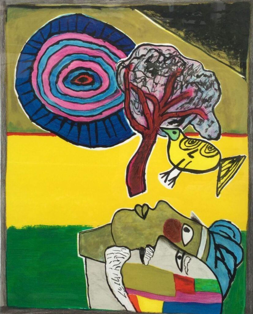 Kunstenaar Guillaume Corneille C3512, Guillaume Corneille Compositie verkocht
