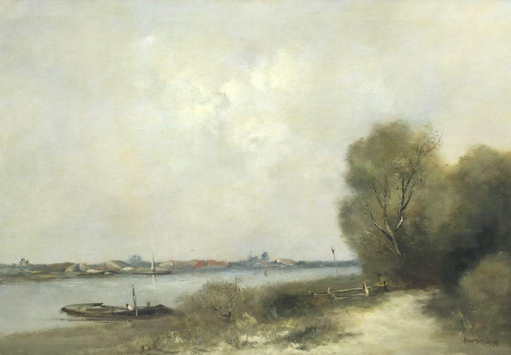 Schilderijen te koop, kunstschilder C3544 Antoon Markus De Rijn bij Duno Olieverf op doek, 70 x 100.5 cm r.o. gesigneerd en gedateerd 18-7-1939, Expositie Galerie Wijdemeren Breukeleveen