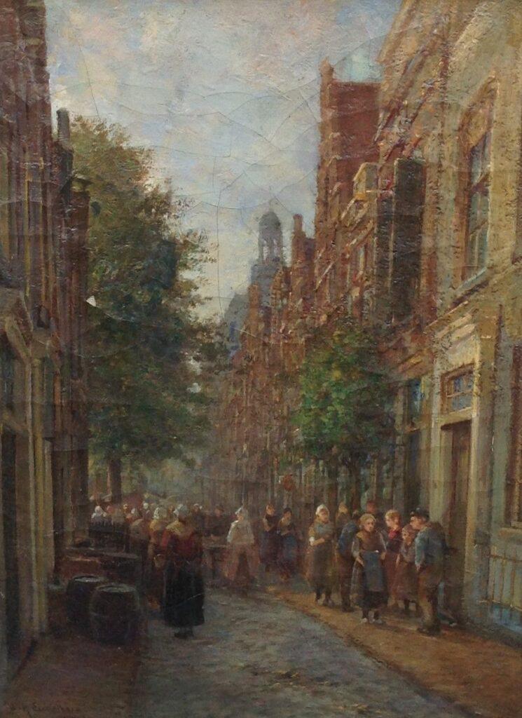 Kunstenaar W.H. Eickelberg C35, Willem H. Eickelberg Olie op doek Beeldmaat: 45,5 cm x 33 cm Linksonder gesigneerd Verkocht