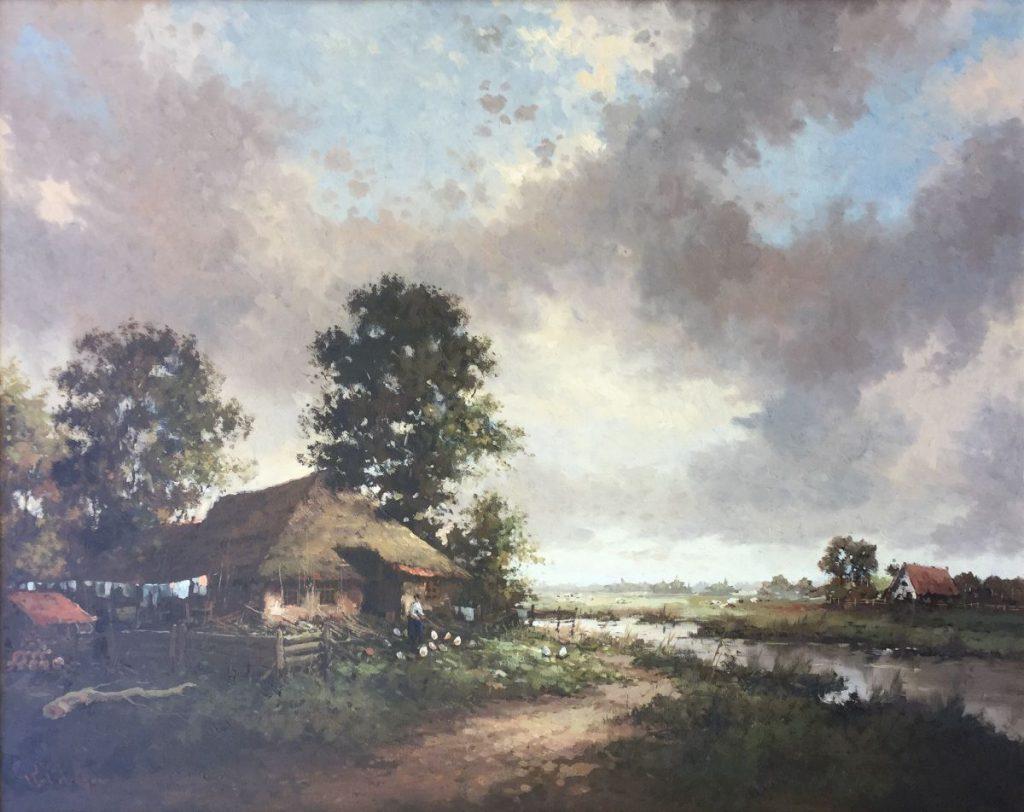 Kunstenaar Rob de Haan C3627-1, Rob de Haan Landschap verkocht