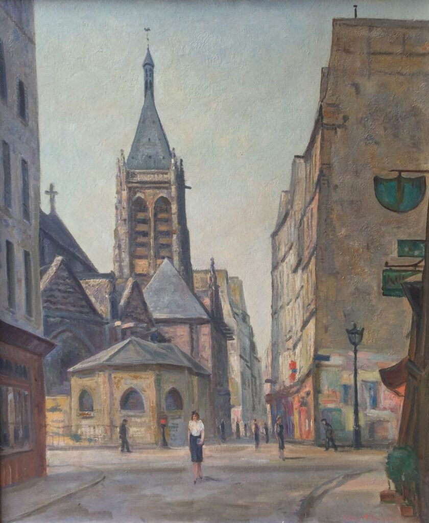 Schilderijen te koop van kunstschilder Johan Meijer Parijs olie op doek, rechtsonder gesigneerd, Expositie Galerie Wijdemeren Breukeleveen