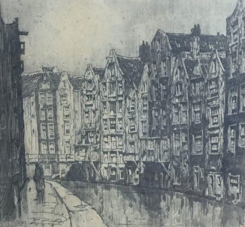 Schilderijen te koop van kunstschilder Anton Pieck, Amsterdam, ets, eigen druk, Expositie Galerie Wijdemeren Breukeleveen