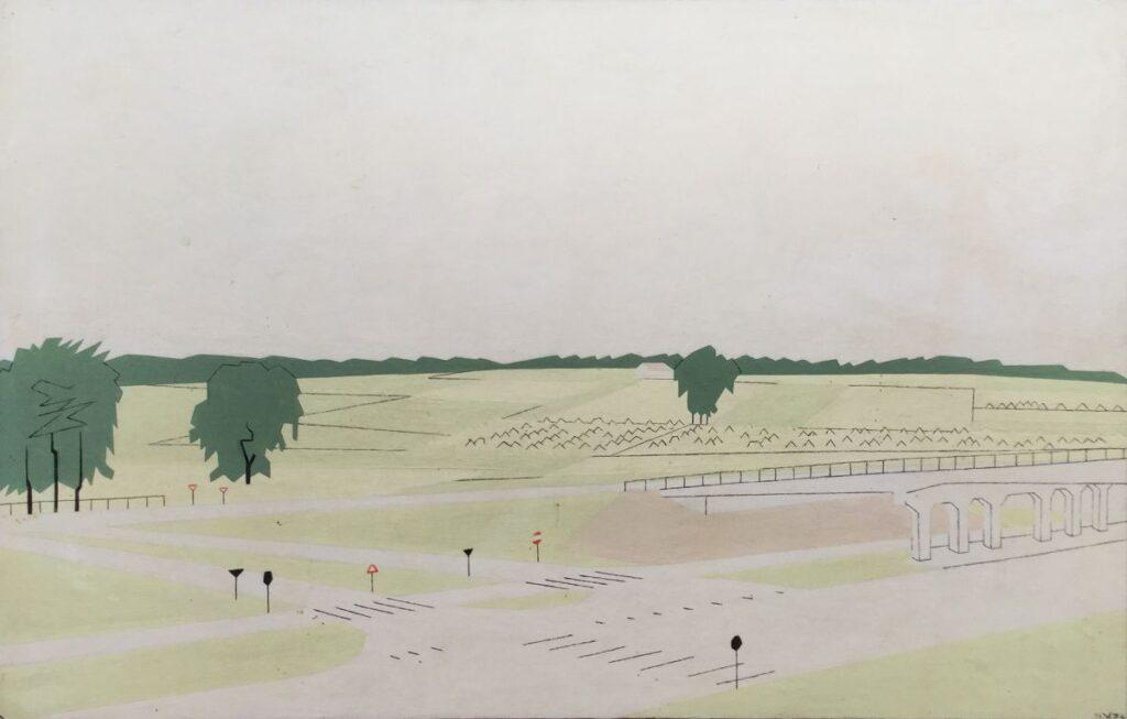 Kunstenaar Hendrik J. Valk C3889, Hendrik Valk Arnhem olieverf op paneel, 29 x 44 cm, r.o. gesigneerd