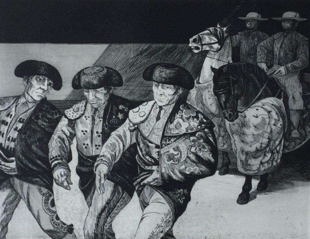 Kunst te koop bij Galerie Wijdemeren van Dick Stolwijk Entsanda ets op papier, 20 x 25 cm rechtsonder gesigneerd, oplage 3/100