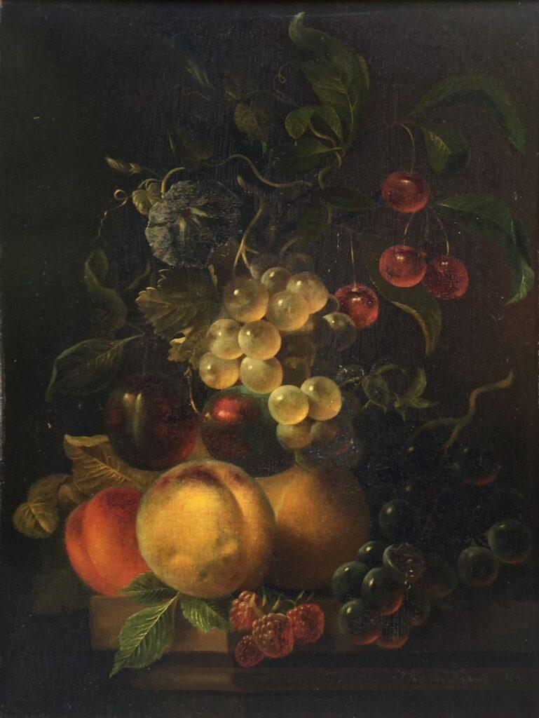 Kunstenaar J. v.d. Waarden C3981W, J. vd Waarden stilleven druiven verkocht
