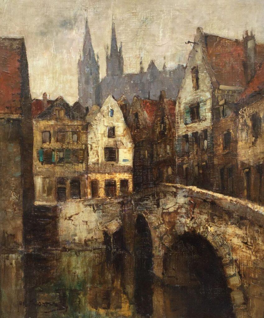 Schilderijen te koop van kunstschilder Jan Korthals Chartres Olieverf op doek Linksonder gesigneerd, Expositie Galerie Wijdemeren Breukeleveen