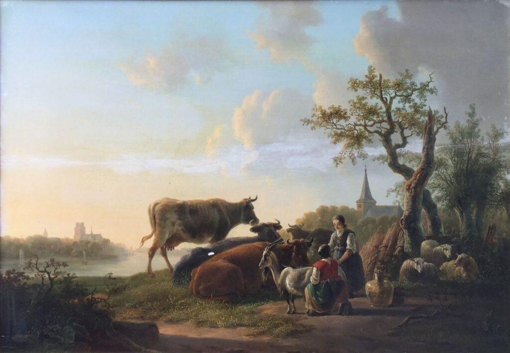 Kunstenaar Jacob van Strij C4133 Jacob van Strij, Gezicht op Dordrecht olie op paneel, 50 x 70 cm r.o. gesigneerd verkocht