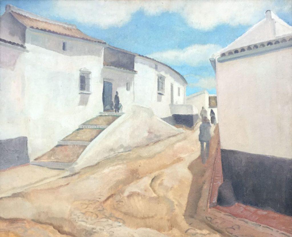 Schilderijen te koop van kunstschilder Harmen Meurs Calle Rubio olie op doek, doekmaat 60 x 73,5 cm verso gesigneerd, Expositie Galerie Wijdemeren Breukeleveen