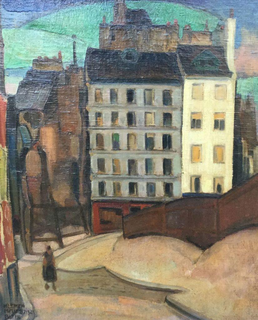 Schilderijen te koop, kunstschilder Harmen Meurs Parijs olie op doek, doekmaat 46 x 38 cm linksonder gesigneerd, expositie Galerie Wijdemeren Breukeleveen
