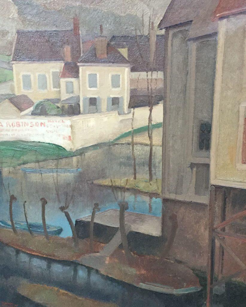 Schilderijen te koop van kunstschilder Harmen Meurs Huizen aan het water olie op doek, doekmaat 55 x 46 cm l.o. gesigneerd en gedateerd 1927, Expositie Galerie Wijdemeren Breukeleveen