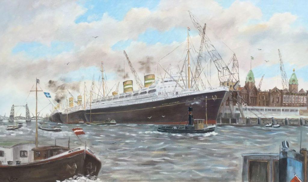 schilderijen te koop van kunstschilder, Leo Pors Zeegezicht Olie op doek, doekmaat 60 x 100 cm linksonder gesigneerd, expositie, galerie wijdemeren breukeleveen