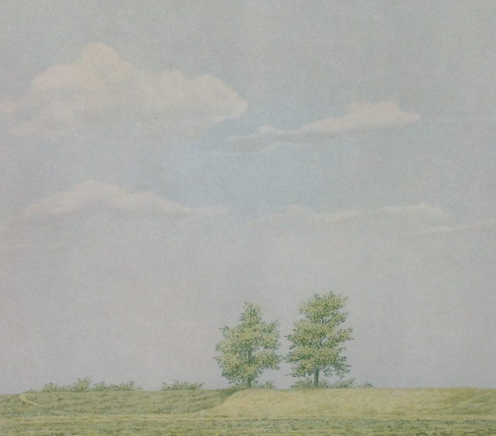 Kunstenaar Edgar Fernhout C425-8, Edgar Fernhout  Landschap met bomen  litho, 40 x 45 cm  r.o. gesigneerd