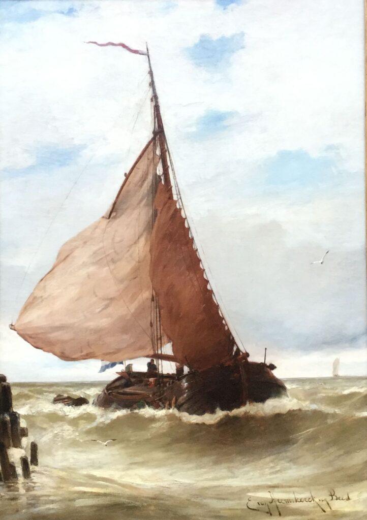 Kunstenaar Jacob Eduard van Heemskerk van Beest C4250 J.E. Heemskerck van Beest olie op doek, doekmaat 96 x 68 cm r.o. gesigneerd verkocht