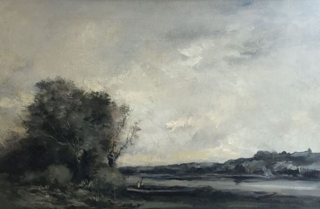 Schilderijen te koop, kunstschilder, Antoon Markus Landschap olieverf op doek, 40.5 x 60.5 cm rechtsonder gesigneerd, Expositie Galerie Wijdemeren Breukeleveen