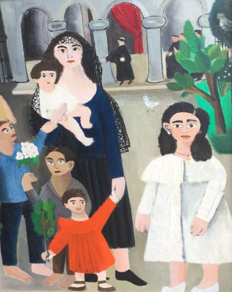 Schilderijen te koop van kunstschilder Susan Burki Domingo de Ramo Taragona 1954 olie op doek, doekmaat 55,5 x 45 cm verso gesigneerd en gedateerd 1954, Expositie Galerie Wijdemeren Breukeleveen