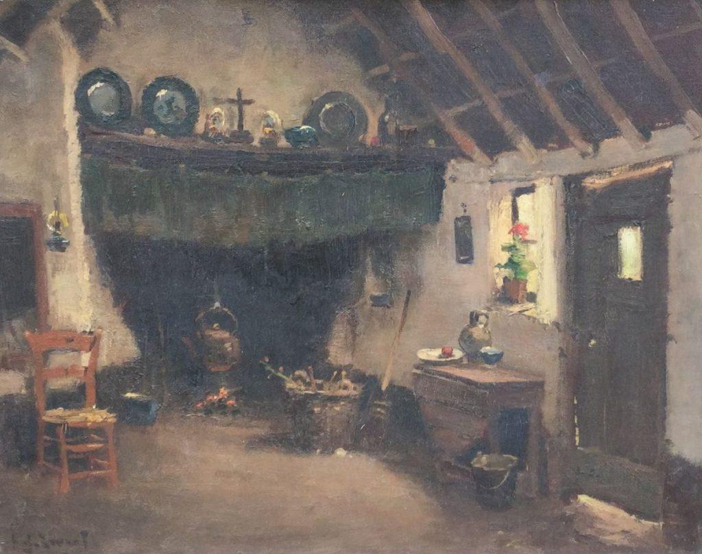 Schilderijen te koop van kunstschilder AJ Zwart interieur, Expositie Galerie Wijdemeren Breukeleveen