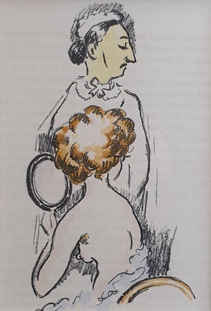 Kunstenaar Kees van Dongen C4461-A1 Kees van Dongen La revolte des Anges pg. 160. Deze litho komt uit het beroemde boek van Anatole France: La Revolte des Anges litho, 22.5 x 15 cm